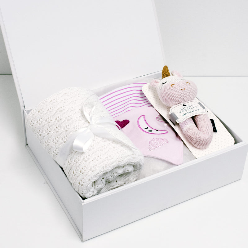 Kenzie Unicorn Rattle Baby Box