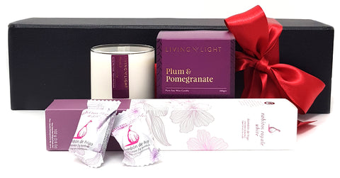 Plum Candle & Chocolate Strawberry Bon Bons