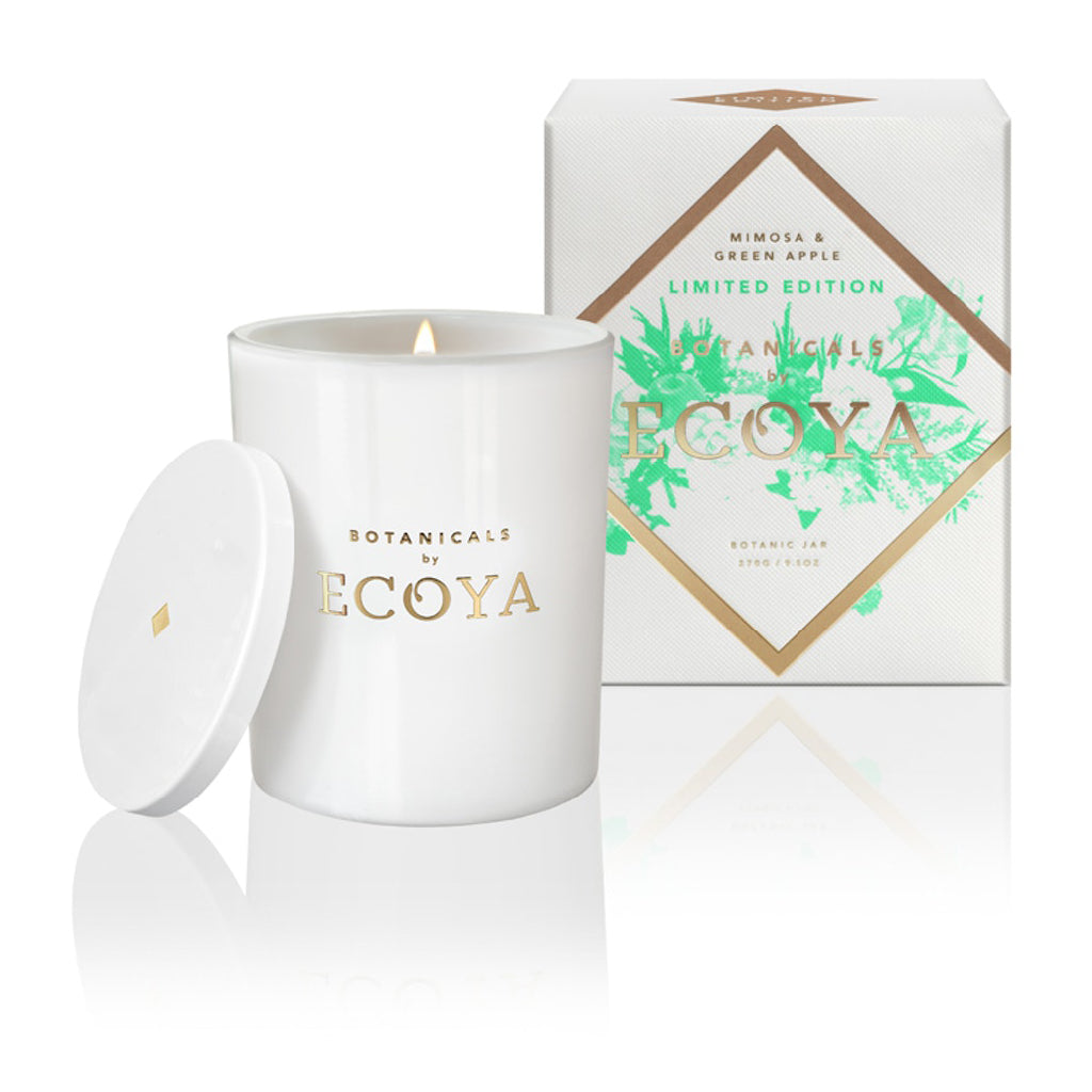 Ecoya Large Mimosa & Green Apple Candle