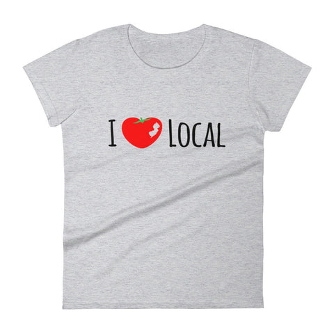 NJ I Love Local - Women's short sleeve t-shirt (Heather Grey)