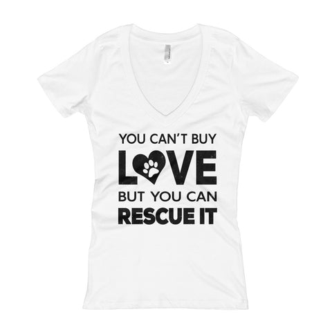 You Can't Buy Love - Light Color Women's V-Neck T-shirt