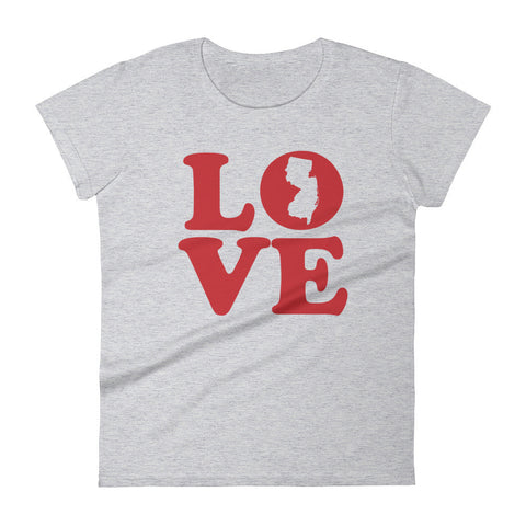 NJ Love - Women's short sleeve t-shirt (White, Black, Heather Grey & Dark Heather Grey)