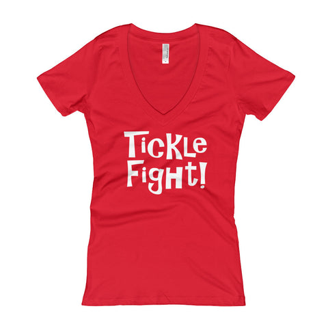 Tickle Fight! - Women's V-Neck T-shirt