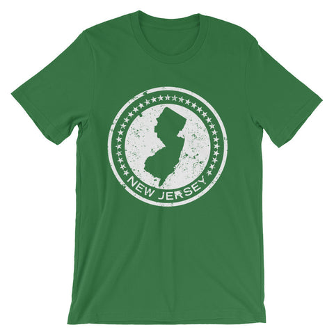 NJ Circle & Stars - Unisex short sleeve t-shirt (Black, Green & Navy Blue)
