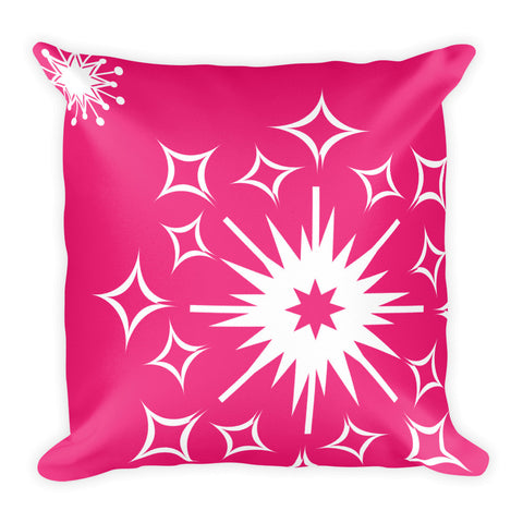 Pink Snowflake Pillow