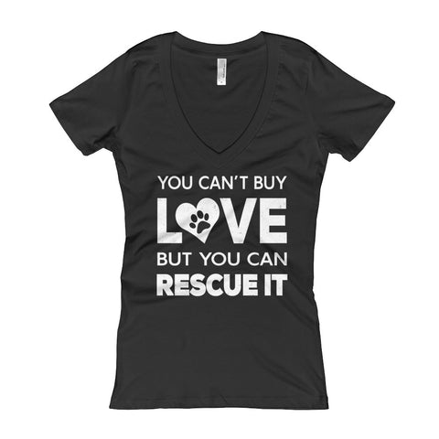 You Can't Buy Love - Dark Color Women's V-Neck T-shirt