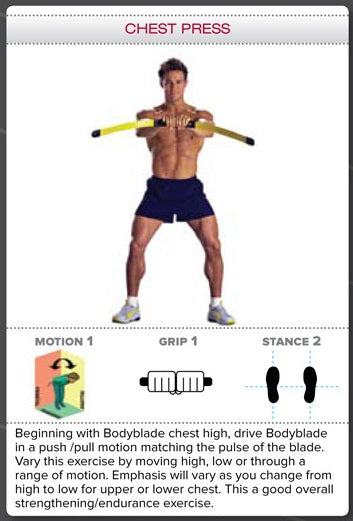Bodyblade Rehab Exercise - Chest Press