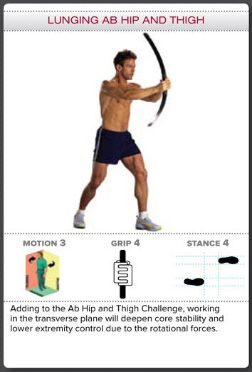Bodyblade Rehab Exercise - Lunging Ab Hip and Thigh