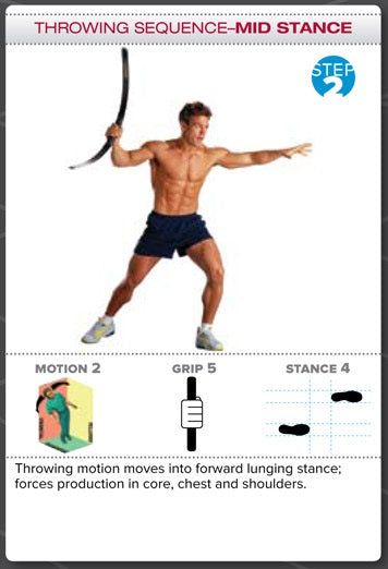 Bodyblade Rehab Exercise - Throwing Sequence, Mid Stance