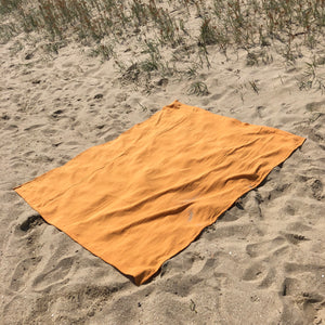 Large Cotton Beach Blanket - Golden