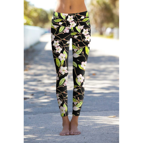 Black Muse Lucy Printed Performance Leggings - Women