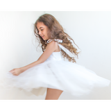 Ivory Tie-Straps Tulle Girls Dress 5004