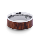 The Wide Koa Wood Inlay Ring