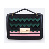 Green and Pink Geometric Bag