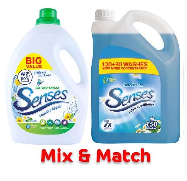3L 100 Wash Laundry Liquid & 3.75L 150 Wash Fab Con Bundle