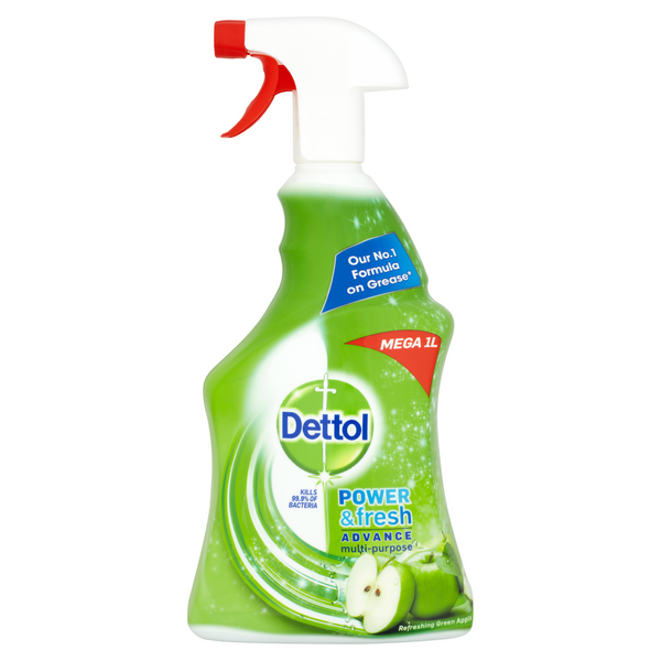 DETTOL POWER & FRESH SPRAY APPLE 1L CASE OF 6