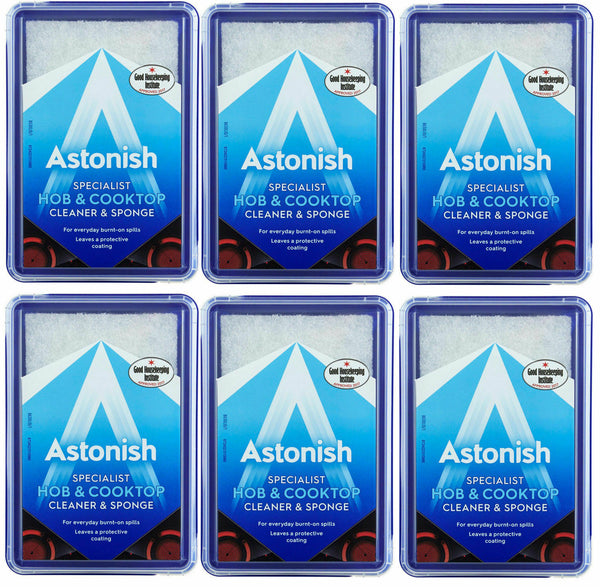 Astonish Hob & Cooktop Specialist Cleaner & Sponge Case of 6