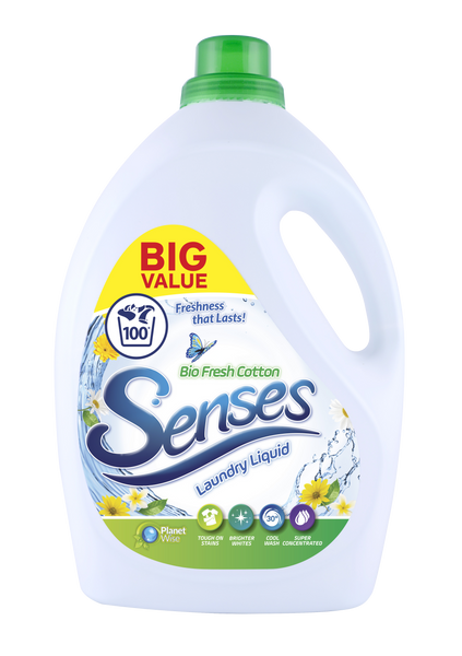 Senses Bio Fresh Cotton 3ltr 100 washes