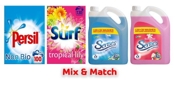 Laundry Powder & 150 Wash Fab Con Bundle