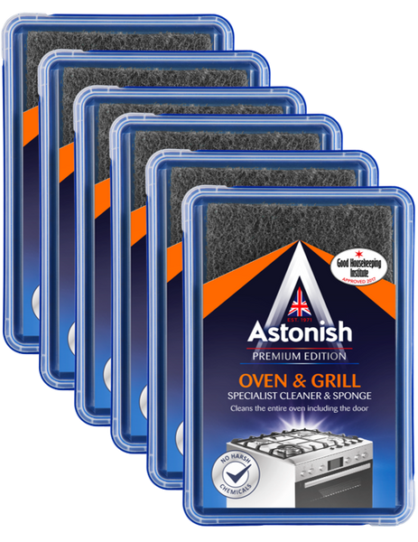 Astonish Oven & Grill Specialist Cleaner & Sponge Case of 6