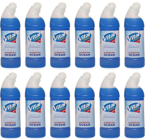 Vital Fresh Toilet Gel Ocean 750ml Case of 12