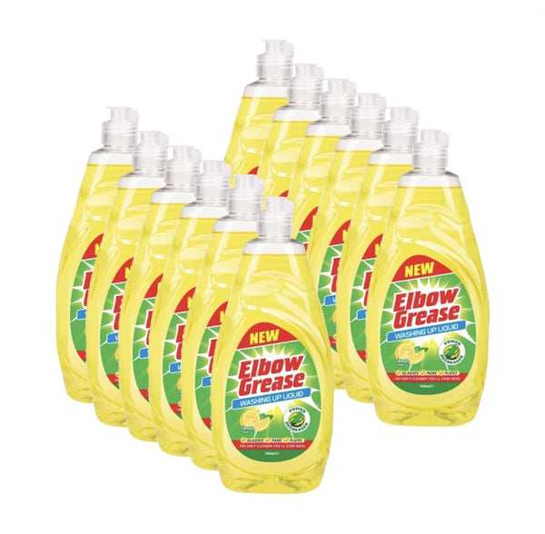 ELBOW GREASE WASHING UP LIQUID 740ml CASE OF 12
