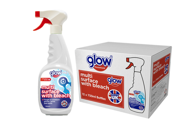 Glow Multi Surface With Bleach 750ml CASES(12 X UNITS)