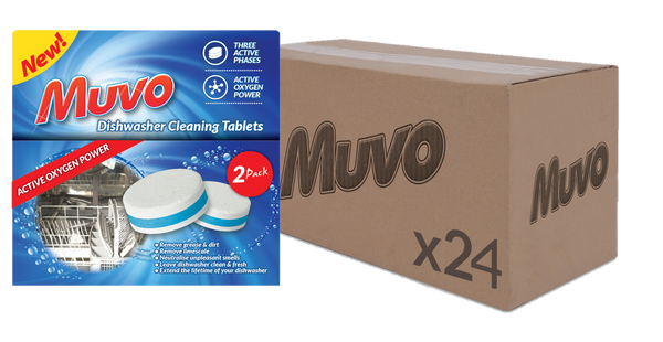 Muvo Dishwasher Cleaning tablets 2 Pk CASE( 24 X UNITS)