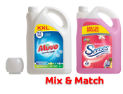Large 166 Wash Laundry Liquid & 5L 200 Wash Fab Con Bundle