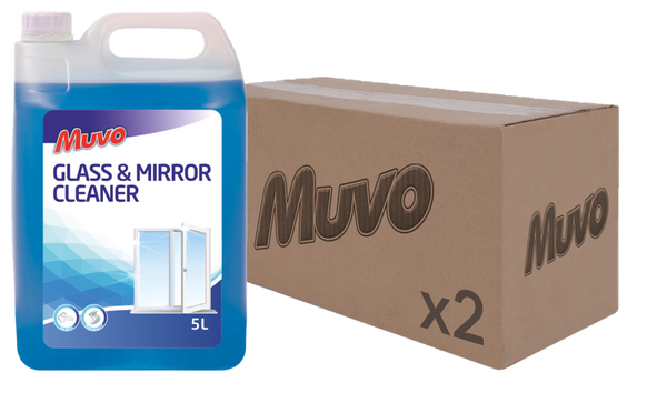 Muvo Pro Glass and Mirror Cleaner 5L CASE (2 X UNITS)