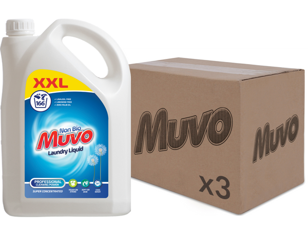 Muvo Non Bio 4.98ltr 166 washes CASE (UNIT 3 X UNITS)