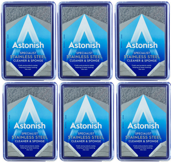 Astonish Stainless Steel Specialist Cleaner & Sponge Case of 6