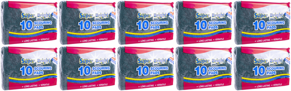 Super Bright Scouring Pads 10s Case of 10
