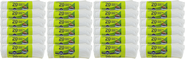 Mammoth 20 Tie Handle Heavy Duty Swing Bin Liners 50l Case of 24