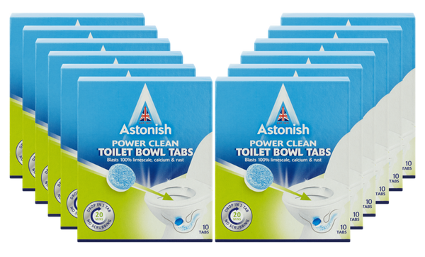 Astonish Power Clean Toilet Bowl Tabs 10pk Case of 12