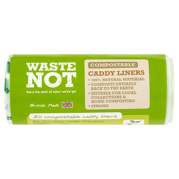 Waste Not Compostable Caddy Liners 20 Sacks