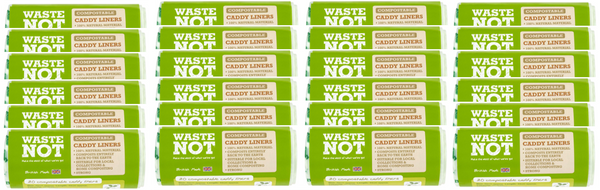 Waste Not Compostable Caddy Liners 20 Sacks Case of 24