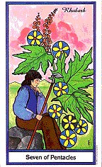 Seven of Pentacles - Tarot & Tea