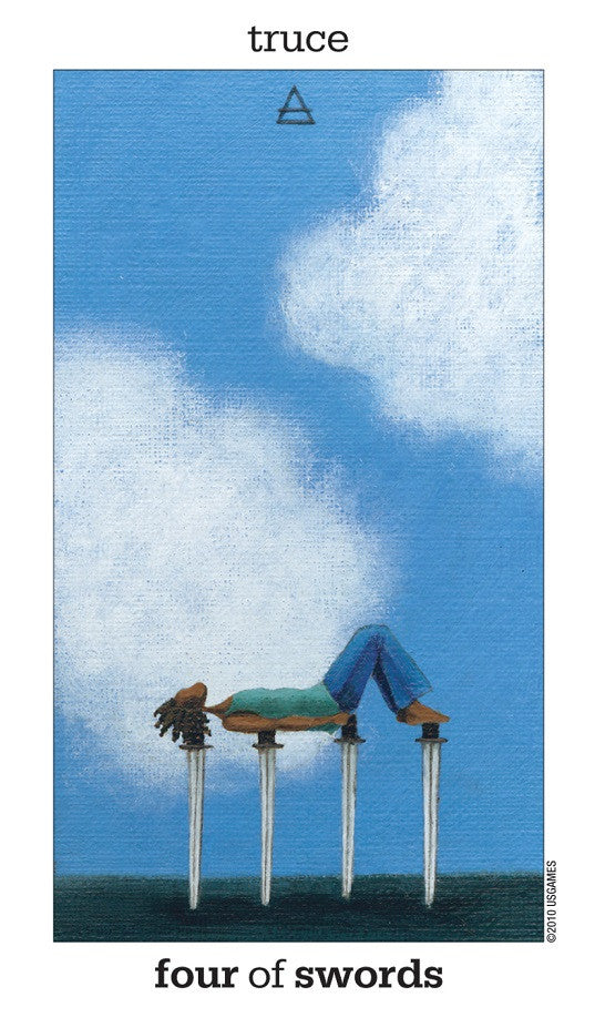 IV of Swords - #tarot&tea