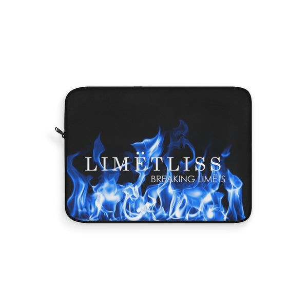 Blue Fire Flame Logo Laptop Sleeve