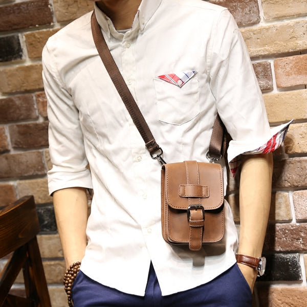 Men's Leather Travel Waist Fanny Pack Bag - limetliss