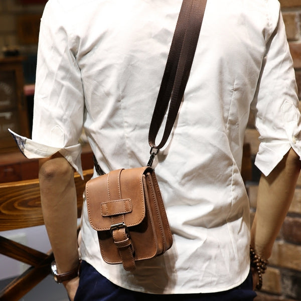 Men's Leather Travel Waist Fanny Pack Bag