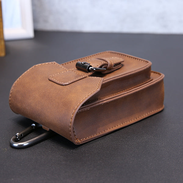 Men's Leather Sling Cigarette Key Chain Bag - limetliss