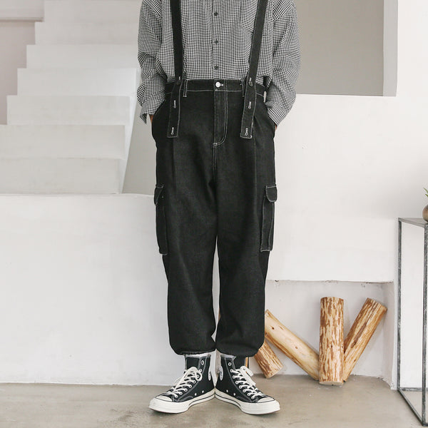 denim high street overalls