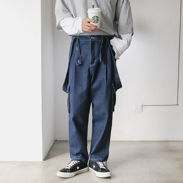 denim high street overalls - limetliss