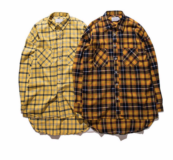 Men's Autumn Fanta Long Back Flannel - limetliss