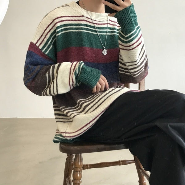 Multi-Stripe L/S Sweater - limetliss