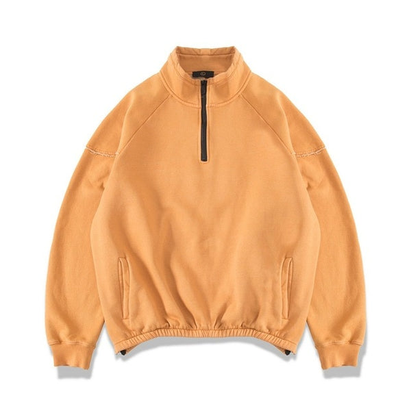 Fleece Half Zip Pullover Windbreaker