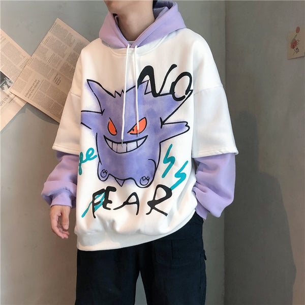 Gengar No Fear Spray Paint Hoodie - limetliss