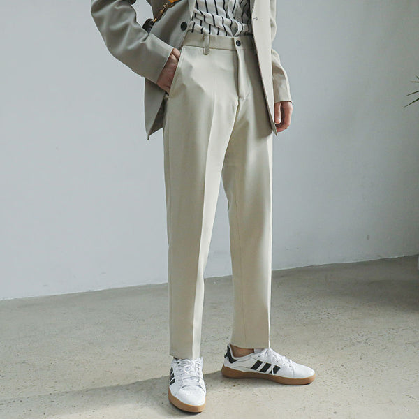 egg shell white lux trousers